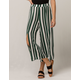 SKY AND SPARROW Stripe Crop Womens Wide Leg Pants