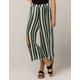 SKY AND SPARROW Stripe Crop Womens Wide Leg Pants