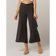 SKY AND SPARROW Paperbag Tie Waist Womens Crop Pants