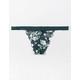 FULL TILT Printed Lace Dark Green Thong