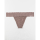 FULL TILT All Over Lace Mauve Thong