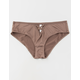 FULL TILT Lace Up Front Taupe Panties
