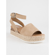 SODA Topic Platform Taupe Womens Espadrille Sandals