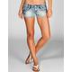 HIPPIE LAUNDRY Zig Zag Stitch Womens Denim Shorts