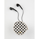 ANKIT Checkered Earbuds & Carrying Case