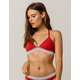 TOMMY HILFIGER Triangle Mesh Red Bralette