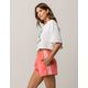 ADIDAS 3 Stripe Neon Pink Womens Shorts