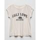 BILLABONG Retro Cali Bear Girls Pocket Tee