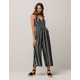 PATRONS OF PEACE Stripe Crop Womens Jumpsuit