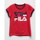 FILA Red Girls Ringer Tee