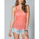 FULL TILT Essential Lace Womens Racerback Tank