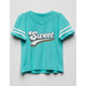 WHITE FAWN Sweet Girls Varsity Tee