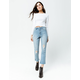 RSQ Sydney Crop Womens Ripped Flare Jeans