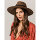 BRIXTON Joanna Black & Brown Womens Straw Hat