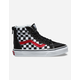 VANS Checkerboard Sk8-Hi Zip Kids Shoes