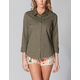 FULL TILT Womens Military Shirt