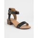 CITY CLASSIFIED Cardio Black Womens Heeled Sandals