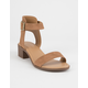CITY CLASSIFIED Cardio Tan Womens Heeled Sandals