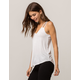 BOZZOLO Cutout White Womens Tank Top
