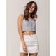 IVY & MAIN Stripe Button Front Womens Crop Cami