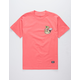 GRIZZLY OG Yogi Coral Mens T-Shirt