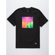 GRIZZLY Prism Black Mens T-Shirt