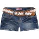 YMI Belted Girls Denim Cutoff Shorts