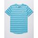 BROOKLYN CLOTH Banana Stripe Light Blue Mens T-Shirt