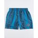 GOTCHA Guata Fish Blue Mens Volley Shorts