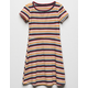 FULL TILT Stripe Fit N Flare Girls Dress