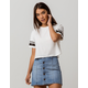 HEART & HIPS Sporty White Womens Crop Tee
