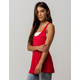 BOZZOLO Long Red Womens Tank Top