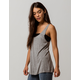 BOZZOLO Long Heather Gray Womens Tank Top
