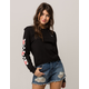 VANS Patchwork Floral Black Womens Crop Tee