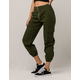 TINSELTOWN Olive Womens Cargo Pants