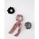 FULL TILT 3 Pack Bow Tie Ribbed Scrunchies