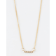 FULL TILT Melissa Rhinestone Bar Necklace
