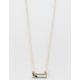 FULL TILT Crystal Bar Necklace