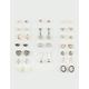 FULL TILT 20 Pairs Moon, Heart & Marble Stud Earrings