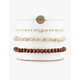 FULL TILT 5 Pack Moon & Wood Bracelets