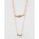 FULL TILT 2 Pack Marble & Feather Necklaces