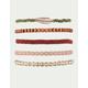 FULL TILT 5 Pack Braid & Feather Bracelets