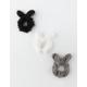 FULL TILT 3 Pack Fuzzy Ear Scrunchies