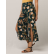 SKY AND SPARROW Floral Wide Leg Womens Crop Pants
