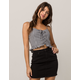 FULL TILT Gingham Lace Up Womens Cami