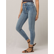 IVY & MAIN Exposed Button Crop Womens Skinny Jeans