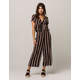 SKY AND SPARROW Stripe Tie Front Womens Top And Pants Set