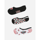 VANS 3 Pack Rose Check Girls Canoodle Socks
