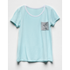 FULL TILT Color Block Mint Girls Pocket Tee