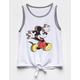 Disney Mickey Mouse Rainbow Tie Front Girls Tank Top